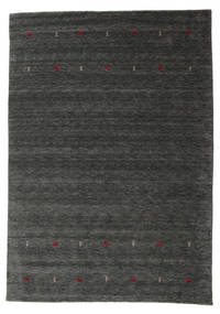 Gabbeh Loom Two Lines - Medium Harmaa Matto 190X290 Moderni Musta/Beige (Villa, Intia)