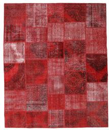 Patchwork Matto 251X305 Moderni Käsinsolmittu Tummanpunainen/Punainen Isot (Villa, Turkki)