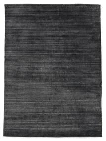 Bamboo Silkki Loom - Charcoal Matto 140X200 Moderni Tummanharmaa/Musta ( Intia)