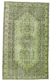 Colored Vintage Matto 148X255 Moderni Käsinsolmittu Vaaleanvihreä/Tummanvihreä (Villa, Turkki)