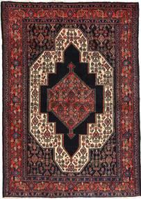 Senneh Matto 115X163 Itämainen Käsinsolmittu Musta/Tummanruskea/Tummanpunainen (Villa, Persia/Iran)