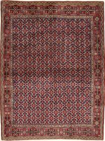 Senneh Matto 121X166 Itämainen Käsinsolmittu Tummanpunainen/Ruskea (Villa, Persia/Iran)