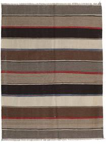 Kelim Matto 138X183 Itämainen Käsinkudottu Vaaleanharmaa/Tummanruskea/Vaaleanruskea (Villa, Persia/Iran)