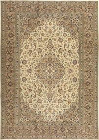 Keshan Patina Matto 240X343 Itämainen Käsinsolmittu Vaaleanruskea/Beige (Villa, Persia/Iran)