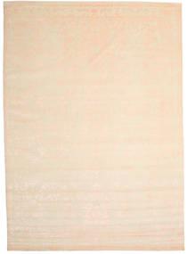 Himalaya Matto 300X421 Moderni Käsinsolmittu Beige/Vaaleanpunainen Isot (Villa/Bambu Silkki, Intia)