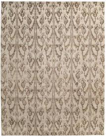 Himalaya Matto 278X358 Moderni Käsinsolmittu Vaaleanharmaa/Vaaleanruskea Isot (Villa/Bambu Silkki, Intia)