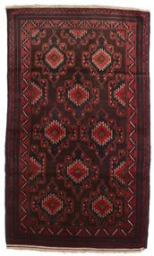 Beluch Matto 102X190 Itämainen Käsinsolmittu Tummanruskea/Tummanpunainen (Villa, Afganistan)