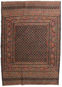 Kelim Golbarjasta Matto 132X188 Itämainen Käsinkudottu Tummanruskea/Ruskea (Villa, Afganistan)
