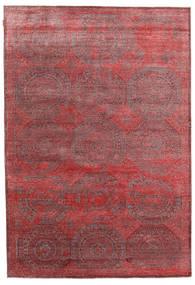Himalaya Bambu Silkki Matto 202X296 Moderni Käsinsolmittu Ruskea/Tummanpunainen ( Intia)
