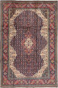Sarough Matto 200X305 Itämainen Käsinsolmittu Tummanharmaa/Tummanpunainen (Villa, Persia/Iran)