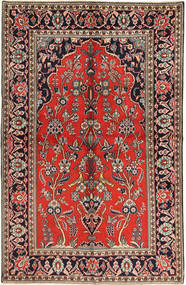 Keshan Matto 130X205 Itämainen Käsinsolmittu (Villa, Persia/Iran)
