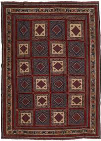 Kelim Golbarjasta Matto 215X288 Itämainen Käsinkudottu Tummanpunainen/Musta (Villa, Afganistan)
