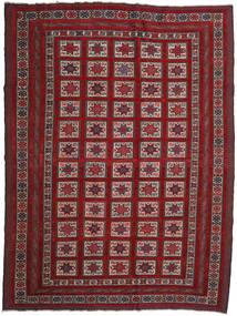 Kelim Golbarjasta Matto 201X272 Itämainen Käsinkudottu Tummanpunainen/Tummanruskea (Villa, Afganistan)