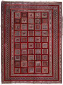Kelim Golbarjasta Matto 203X267 Itämainen Käsinkudottu Tummanpunainen/Tummanruskea (Villa, Afganistan)