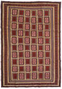 Kelim Golbarjasta Matto 197X270 Itämainen Käsinkudottu Tummanpunainen/Tummanruskea (Villa, Afganistan)