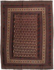 Kelim Golbarjasta Matto 203X264 Itämainen Käsinkudottu Tummanruskea/Tummanpunainen (Villa, Afganistan)