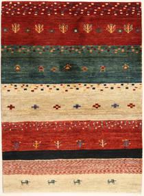 Loribaft Persia Matto 102X140 Moderni Käsinsolmittu Punainen/Tummanvihreä (Villa, Persia/Iran)
