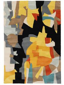 Rasmus Matto 160X230 Moderni Musta/Vaaleanruskea (Villa, Intia)
