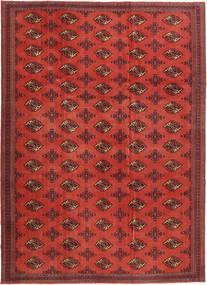 Turkaman Patina Matto 240X337 Itämainen Käsinsolmittu Tummanpunainen/Ruoste (Villa, Persia/Iran)