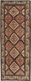 Hamadan Patina Matto 105X285 Itämainen Käsinsolmittu Käytävämatto Ruskea/Tummanharmaa (Villa, Persia/Iran)