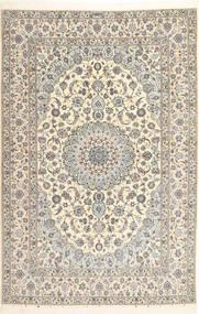Nain 6La Habibian Matto 207X314 Itämainen Käsinsolmittu Vaaleanharmaa/Beige/Tummanbeige (Villa/Silkki, Persia/Iran)