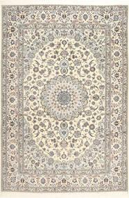 Nain 6La Habibian Matto 207X307 Itämainen Käsinsolmittu Vaaleanharmaa/Valkoinen/Creme (Villa/Silkki, Persia/Iran)