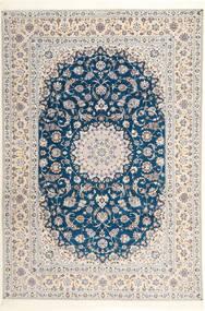 Nain 6La Habibian Matto 204X304 Itämainen Käsinsolmittu Vaaleanharmaa/Valkoinen/Creme (Villa/Silkki, Persia/Iran)