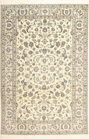 Nain 6La Habibian Matto 205X310 Itämainen Käsinsolmittu Beige/Vaaleanharmaa/Tummanbeige (Villa/Silkki, Persia/Iran)