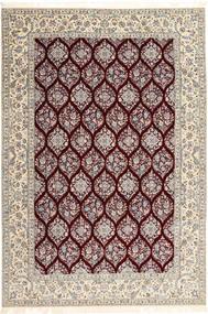 Nain 6La Habibian Matto 205X300 Itämainen Käsinsolmittu Vaaleanharmaa/Tummanpunainen (Villa/Silkki, Persia/Iran)