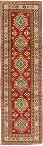 Kazak Matto 81X292 Itämainen Käsinsolmittu Käytävämatto Tummanpunainen/Vaaleanruskea (Villa, Pakistan)