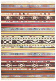 Kelim - Navaja - Navaja Matto 170X240 Moderni Käsinkudottu Beige/Musta ( Intia)