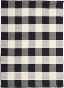 Check Kilim - Musta/Valkoinen Matto 240X340 Moderni Käsinkudottu Musta/Vaaleanharmaa/Tummanharmaa (Villa, Intia)