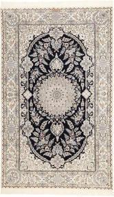 Nain 6La Habibian Matto 150X250 Itämainen Käsinsolmittu Vaaleanharmaa/Beige (Villa/Silkki, Persia/Iran)