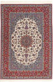 Isfahan Silkkiloimi Matto 160X235 Itämainen Käsinsolmittu Tummanpunainen/Tummanruskea (Villa, Persia/Iran)