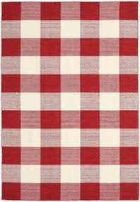 Check Kilim - Punainen/Valkoinen Matto 160X230 Moderni Käsinkudottu Punainen/Beige/Vaaleanpunainen (Villa, Intia)