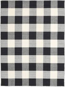 Check Kilim - Musta/Valkoinen Matto 210X290 Moderni Käsinkudottu Vaaleanharmaa/Musta/Beige (Villa, Intia)