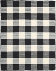 Check Kilim - Musta/Valkoinen Matto 190X240 Moderni Käsinkudottu Musta/Tummanharmaa/Vaaleanharmaa (Villa, Intia)
