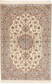 Isfahan Silkkiloimi Davudi Matto 130X202 Itämainen Käsinsolmittu Beige/Vaaleanharmaa (Villa/Silkki, Persia/Iran)
