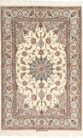 Isfahan Silkkiloimi Mazaheri Matto 130X200 Itämainen Käsinsolmittu Vaaleanharmaa/Beige/Ruskea (Villa/Silkki, Persia/Iran)