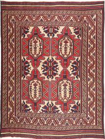 Kelim Golbarjasta Matto 209X281 Itämainen Käsinkudottu Tummanruskea/Tummanpunainen (Villa, Afganistan)