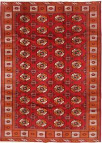 Turkaman Matto 198X277 Itämainen Käsinsolmittu Tummanpunainen/Ruoste (Villa, Persia/Iran)
