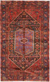 Hamadan Matto 154X254 Itämainen Käsinsolmittu Tummanpunainen/Tummanharmaa (Villa, Persia/Iran)