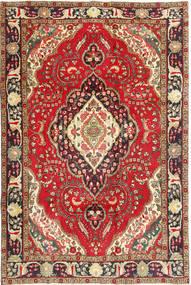 Tabriz Matto 200X298 Itämainen Käsinsolmittu Tummanpunainen/Tummanruskea (Villa, Persia/Iran)