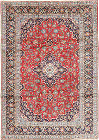 Keshan Matto 245X350 Itämainen Käsinsolmittu Vaaleanharmaa/Ruoste (Villa, Persia/Iran)