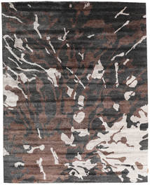 Nepal Original Matto 240X301 Moderni Käsinsolmittu Tummanharmaa/Tummanruskea (Villa/Bambu Silkki, Nepal/Tiibet)