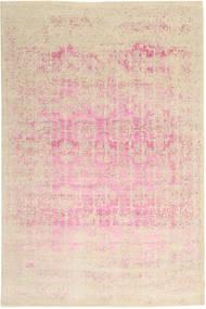 Roma Moderni Collection Matto 198X299 Moderni Käsinsolmittu Beige/Vaaleanpunainen ( Intia)