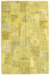 Patchwork Matto 197X301 Moderni Käsinsolmittu Keltainen/Oliivinvihreä (Villa, Turkki)