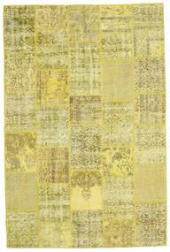 Patchwork Matto 200X301 Moderni Käsinsolmittu Keltainen/Oliivinvihreä (Villa, Turkki)