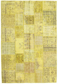 Patchwork Matto 203X299 Moderni Käsinsolmittu Keltainen/Oliivinvihreä (Villa, Turkki)