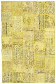 Patchwork Matto 197X298 Moderni Käsinsolmittu Keltainen/Oliivinvihreä (Villa, Turkki)